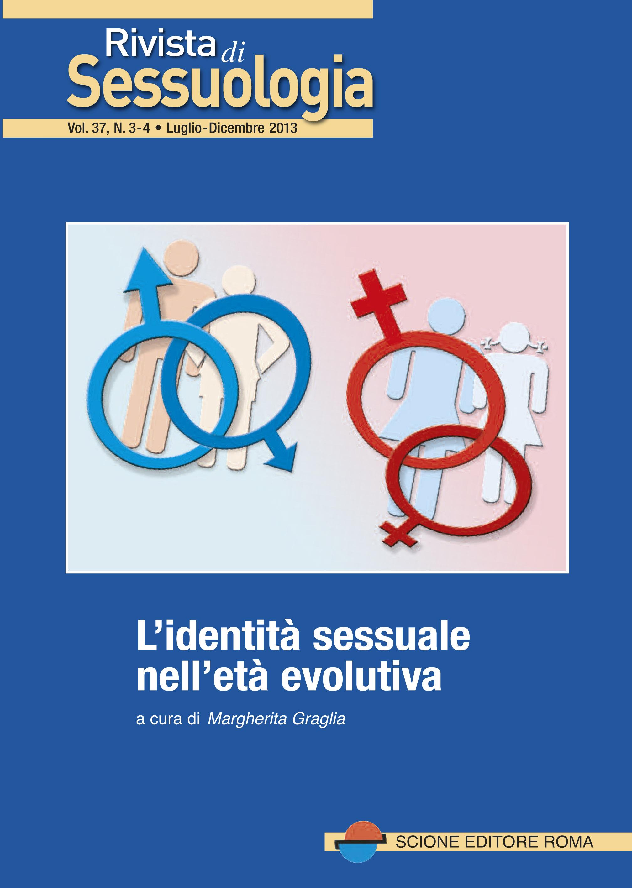 La rivista di sessuologia: Identità sessuale età evolutiva