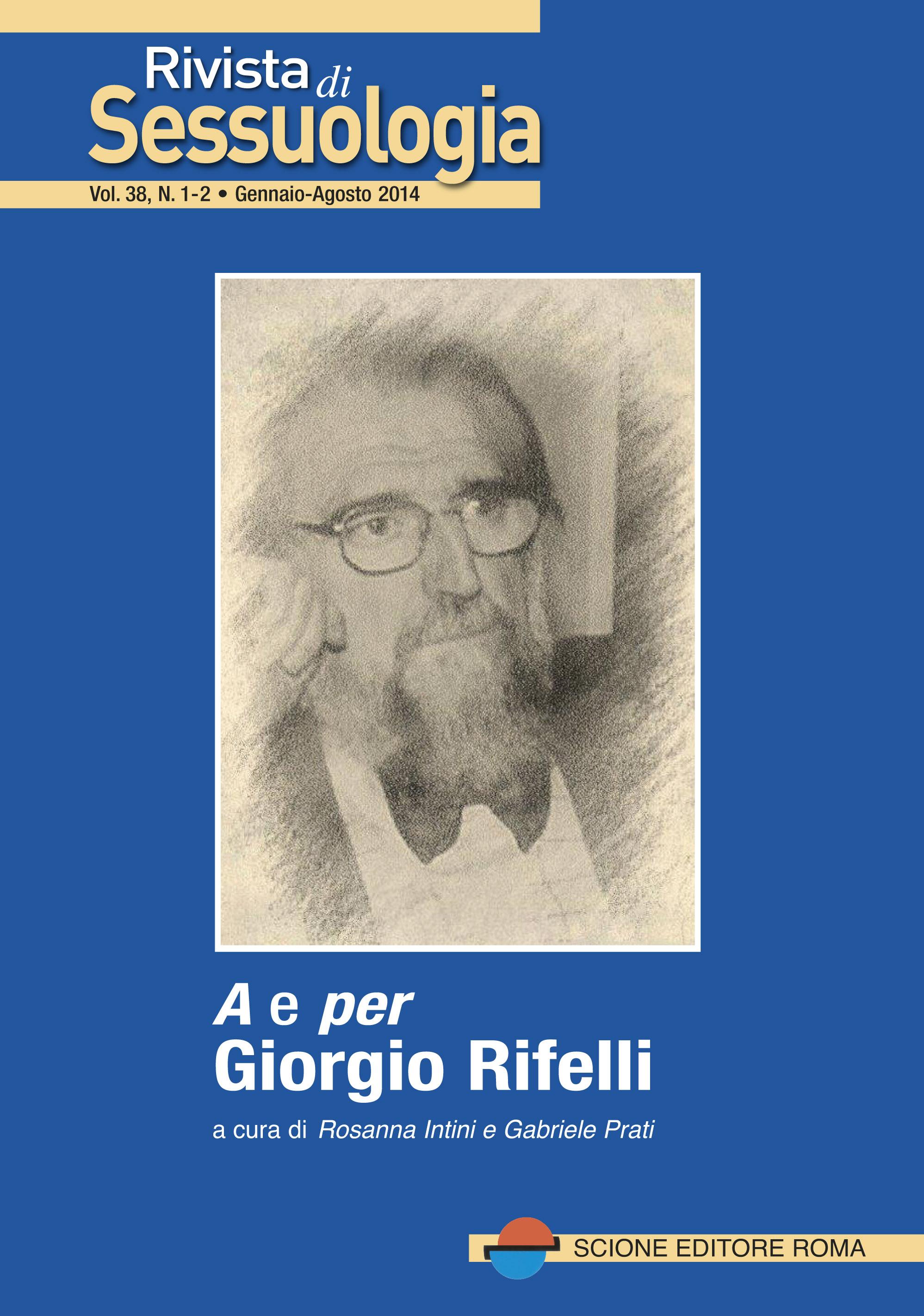 Rivista centro di sessuologia per Giorgio Rifelli