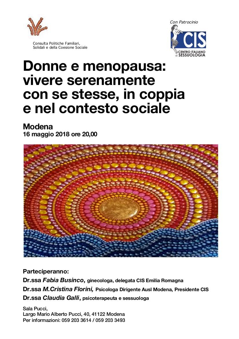 Donne e menopausa: vivere serenamente con se stesse, in coppia e nel contesto sociale