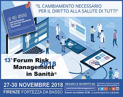 13° FORUM RISK 2018 – MANAGEMENT IN SANITA'