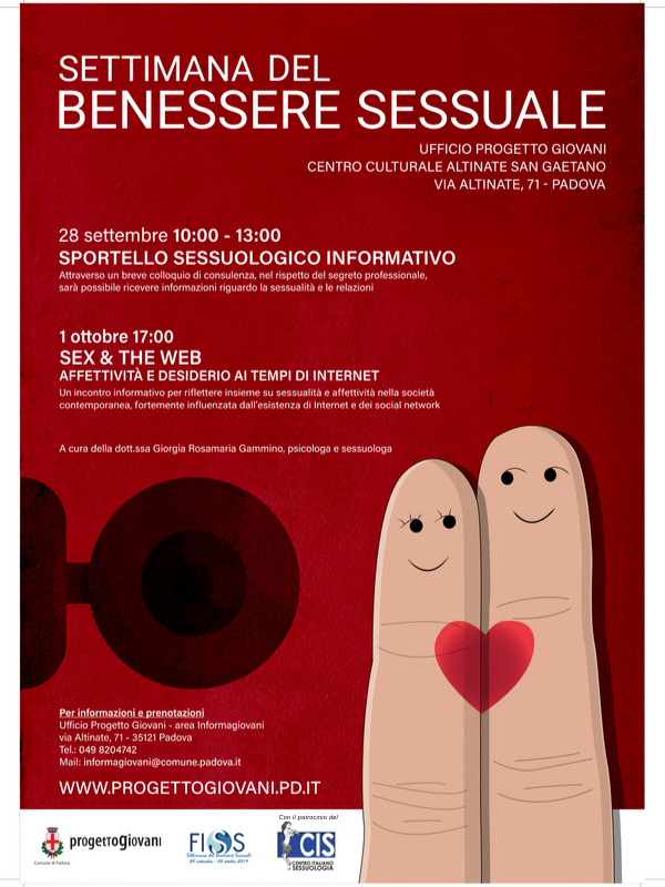SETTIMANA DEL BENESSERE SESSUALE – SEX & THE WEB. Affettività e desiderio ai tempi di internet