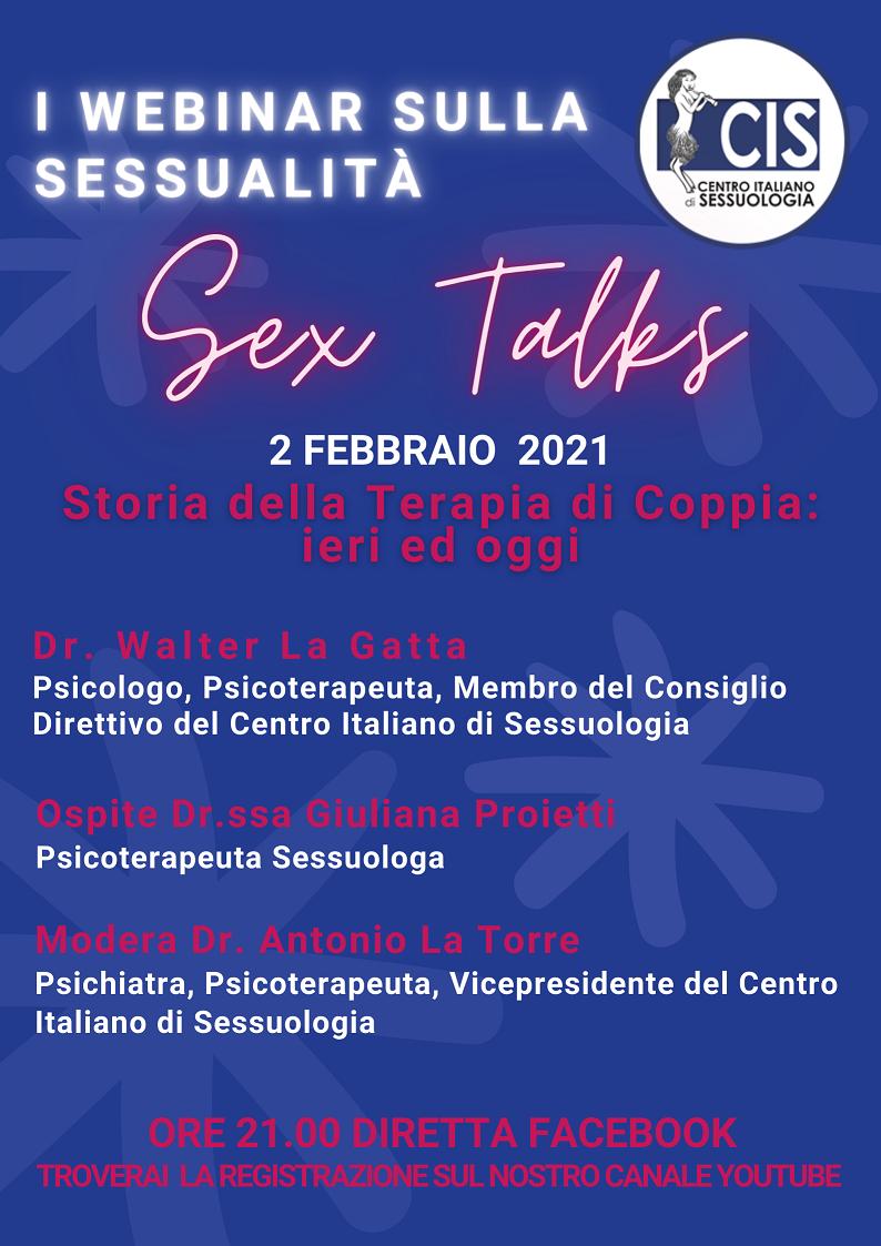WEBINAR SULLA SESSUALITA' – SEX TALKS – STORIA DELLA TERAPIA DI COPPIA: IERI E OGGI